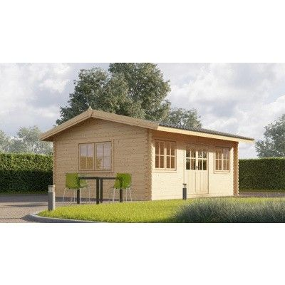 Hauptbild von Graed Oak Blockhaus 595x300 cm, 44 mm