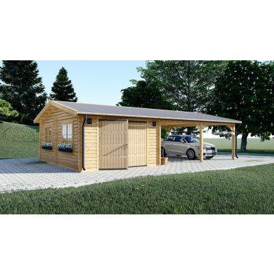 Hauptbild von Graed Double Garage + Carport 950x595 cm, 44 mm