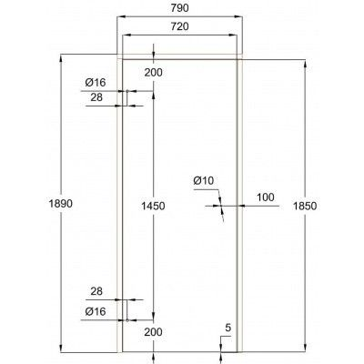 Afbeelding 7 van Ilogreen Saunadeur Trend (Vuren) 189x79 cm, melkglas