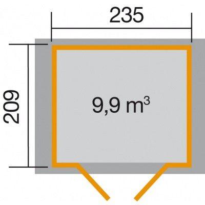 Afbeelding 2 van Weka Tuinhuis 224 Gr. 2 Zweeds rood