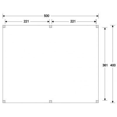 Afbeelding 6 van WoodAcademy Graniet excellent Douglas blokhut 500x400 cm