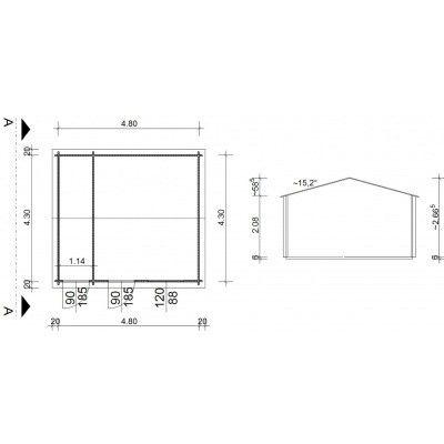 Bild 9 von Azalp Blockhaus Karlijn 500x450 cm, 45 mm