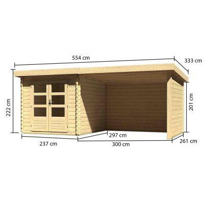 Afbeelding 3 van Woodfeeling Bastrup 4 met veranda 300 cm (73327)