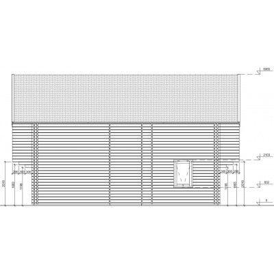 Bild 12 von Graed Langon Chalet 580x870 cm, 44 + 44 mm (Doppelwandig)