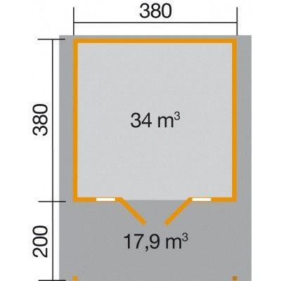 Bild 2 von Weka Weekendhaus 137 Gr. 2 mit Vordach 200cm