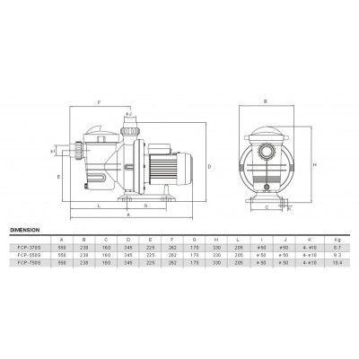 Afbeelding 5 van Glong FCP-370S 10 m3/u mono Type Orange