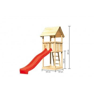 Afbeelding 2 van Akubi Speeltoren Lotti met glijbaan (89342)