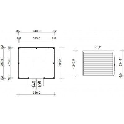 Bild 14 von SmartShed Gartenhaus Ligne 350x300 cm
