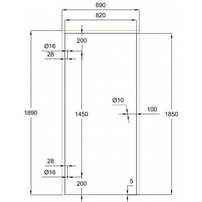 Afbeelding 7 van Ilogreen Saunadeur Trend (Elzen) 189x89 cm, melkglas