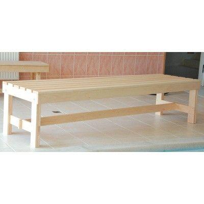 Afbeelding 8 van Azalp Saunabank vrijstaand, Elzen breedte 60 cm