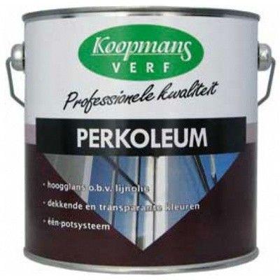 Afbeelding 26 van Koopmans Perkoleum hoogglans verf, Wit 201, 2,5L