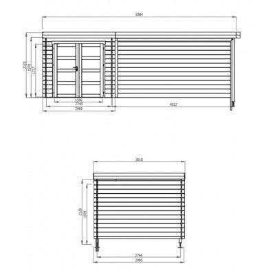 Bild 2 von Debro Fouronnes mit Veranda 400 cm, Hochdruck imprägniert