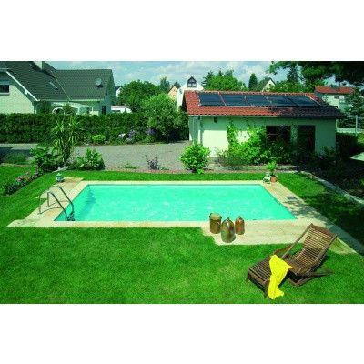 Afbeelding 2 van Trend Pool Boordstenen 700 x 350 cm wit (complete set rechthoek)