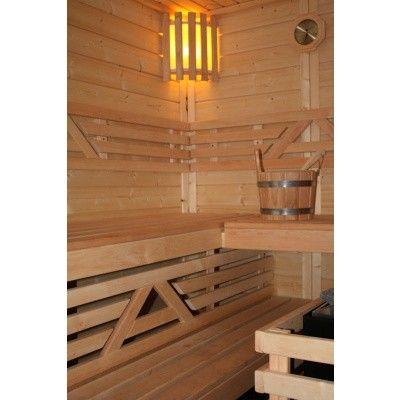 Afbeelding 39 van Azalp Massieve sauna Genio 166x166 cm, 45 mm