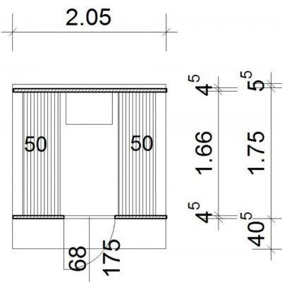 Afbeelding 2 van Azalp Buitensauna Barrel 205x175 cm in 45 mm