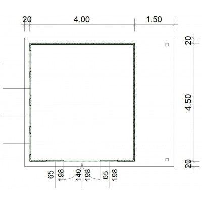 Afbeelding 3 van SmartShed Blokhut Isidro 400x450 cm, 30 mm