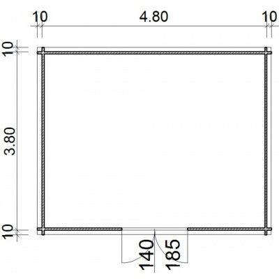 Bild 16 von Azalp Blockhaus Steven 500x400 cm, 45 mm