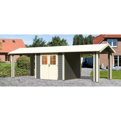 Bild 2 von Woodfeeling Blankenberge 3 mit 2 Anbaudächer Terragrau