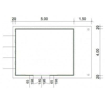 Afbeelding 3 van SmartShed Blokhut Isidro 500x400 cm, 45 mm