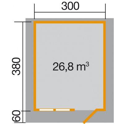 Afbeelding 2 van Weka Tuinhuis 139A Gr. 3 met Luifel 60cm