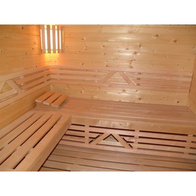 Afbeelding 19 van Azalp Saunabank recht, Elzen breedte 40 cm