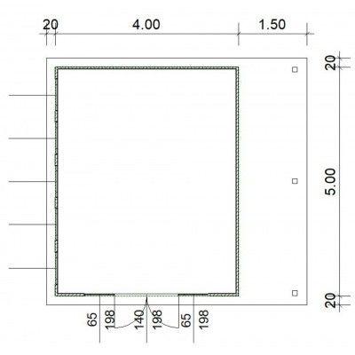Afbeelding 3 van SmartShed Blokhut Isidro 400x500 cm, 30 mm