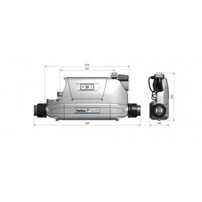 Afbeelding 3 van Pahlen Aqua Mex compleet 40 kW - Nikkellegering (tot 100 m3)