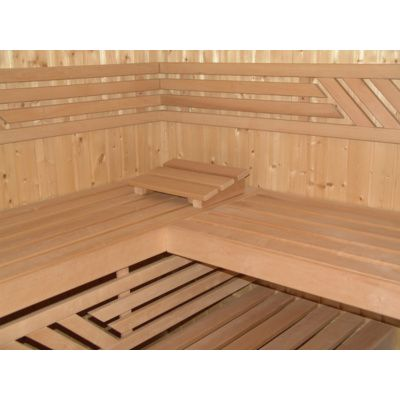 Afbeelding 8 van Azalp Saunabank recht, Elzen breedte 40 cm