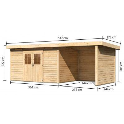 Afbeelding 2 van Woodfeeling Kortrijk 5 met veranda 240 cm