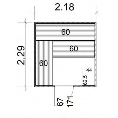 Afbeelding 5 van Azalp Massieve sauna Rio Standaard 218x229 cm, 39 mm