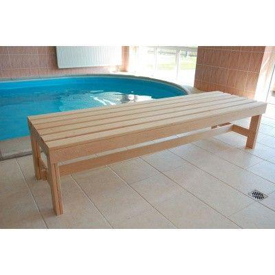 Afbeelding 4 van Azalp Saunabank vrijstaand, Elzen breedte 60 cm
