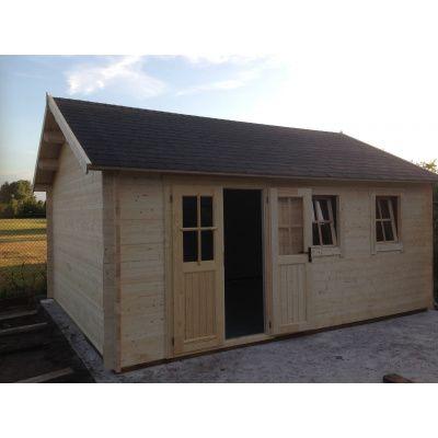 Bild 21 von Azalp Blockhaus Lynn 450x400 cm, 45 mm