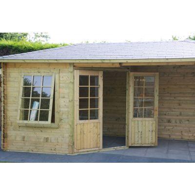 Bild 6 von Interflex Blockhaus 3555 Z, Seitendach 450 cm