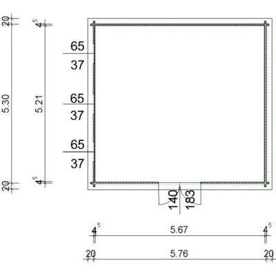 Bild 97 von Azalp Blockhaus Ingmar 596x550 cm, 45 mm