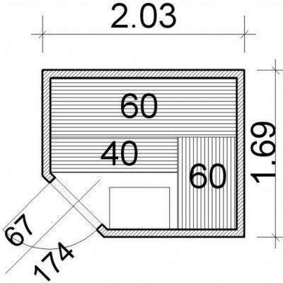 Bild 52 von Azalp Element Ecksaunen 203x169 cm, Erle