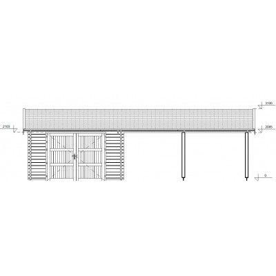 Bild 7 von Graed Double Garage + Carport 950x595 cm, 44 mm