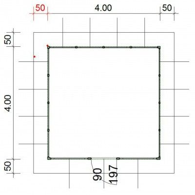 Afbeelding 4 van SmartShed Blokhut Amando 400x400 cm, 45 mm