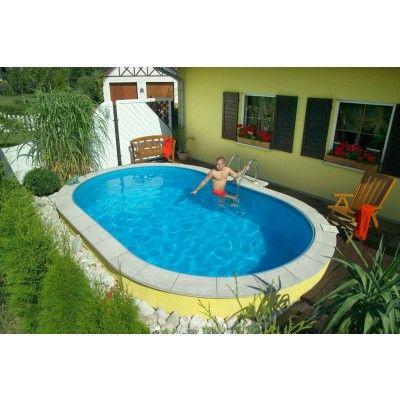 Afbeelding 24 van Trend Pool Boordstenen Tahiti 530 x 320 cm wit (complete set ovaal)