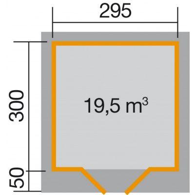 Afbeelding 2 van Weka Designhuis 126 Gr.3, 295x300 cm grijs