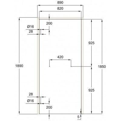 Afbeelding 7 van Ilogreen Saunadeur Classic (Elzen) 89x189 cm, groenglas