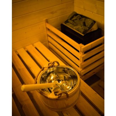 Afbeelding 12 van Azalp Massieve sauna Genio 190x190 cm, 45 mm