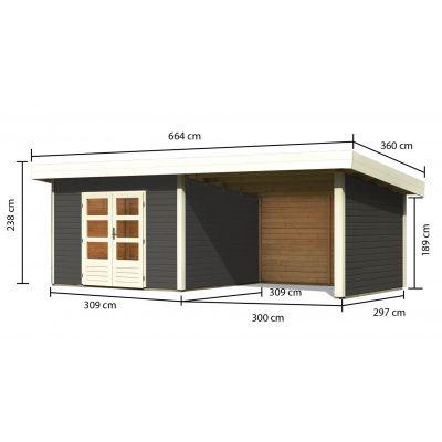 Afbeelding 3 van Woodfeeling Northeim 3 met veranda 300 cm (91470)