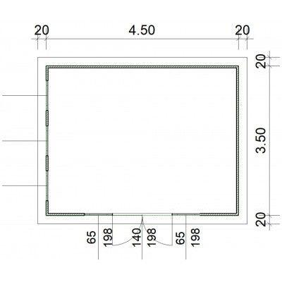 Afbeelding 2 van SmartShed Blokhut Zenon 450x350 cm, 45 mm