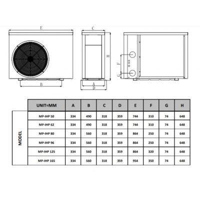 Afbeelding 5 van Fairland BWT MyPool 9,6 kW step Inverter mono zwembad warmtepomp (20 - 40 m3)