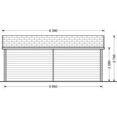 Bild 7 von Graed Oak Blockhaus 595x300 cm, 44 mm