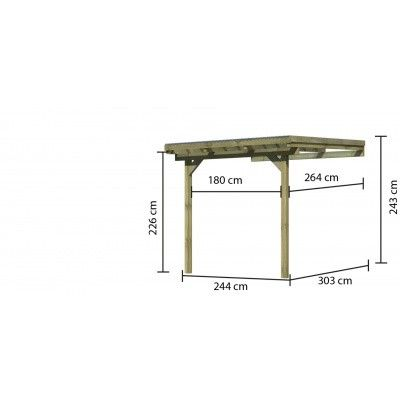 Afbeelding 4 van Karibu Terrasoverkapping Eco Model 1 Grote A (64620)