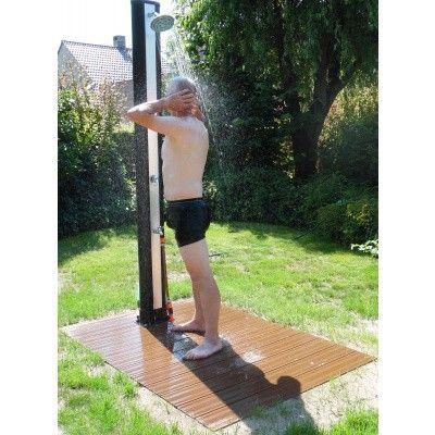 Afbeelding 2 van Azalp Solar douche recht model met voetdouche 35 liter