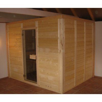 Afbeelding 6 van Azalp Massieve sauna Genio 190x190 cm, 45 mm