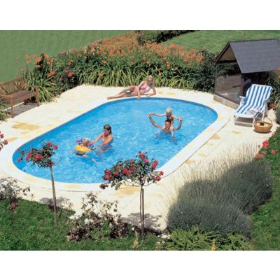 Bild 11 von Trend Pool Beckenrandsteine Tahiti 800 x 400 weiß (für Ovalbecken)