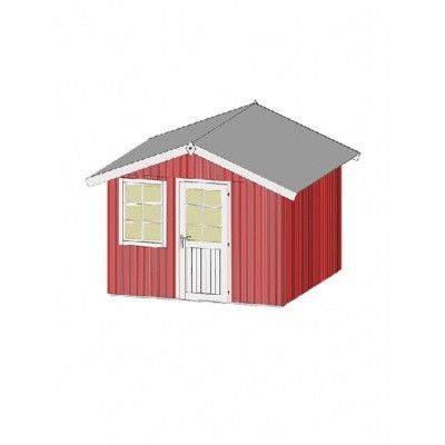 Afbeelding 3 van Weka Zweeds huis 410 Gr. 4 Zweeds rood